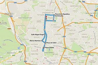 Itinerario de la Manifestación 6D