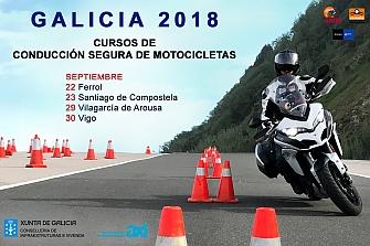 Cursos de Conducción de Motocicletas Galicia 2018