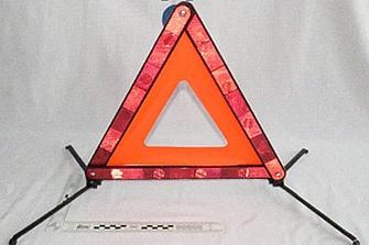 Triángulos de señalización defectuosos FuDing y SHERON