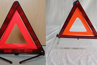 Triángulos defectuosos de fabricación china