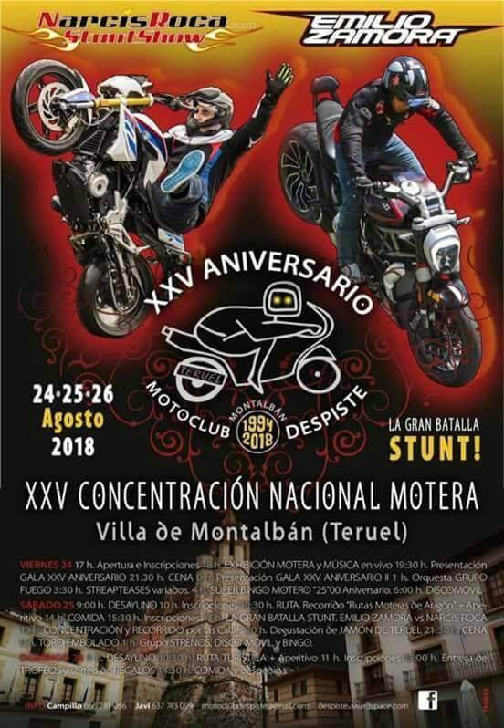 XXV Concentración Motera Villa de Montalbán 2018