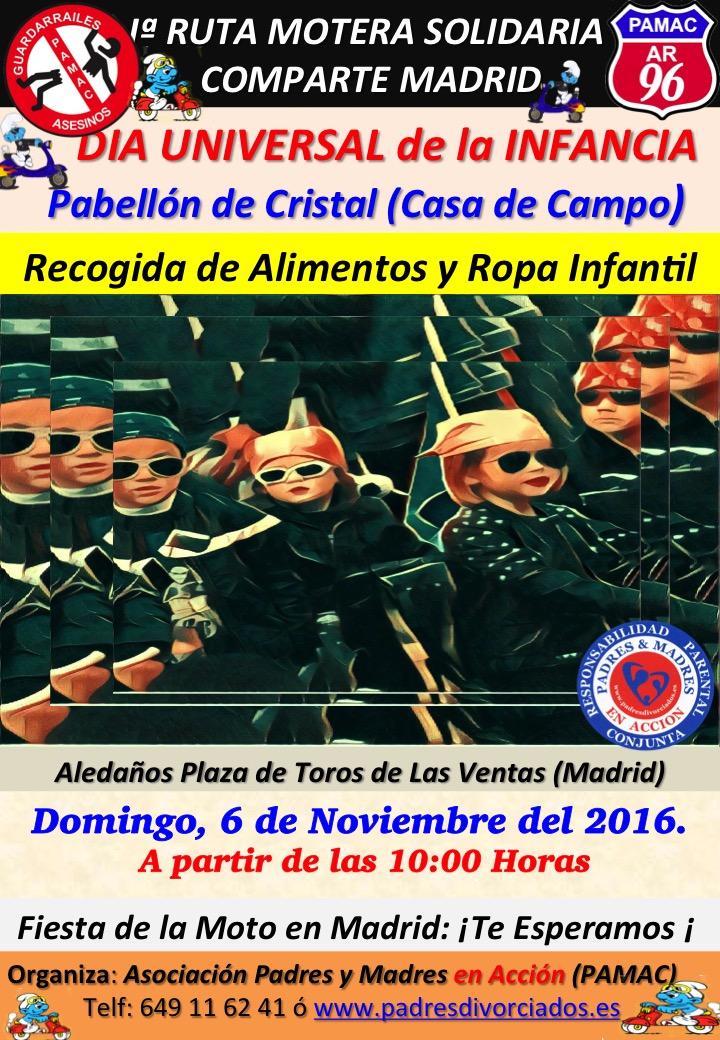Iª Ruta Motera Solidaria: Comparte Madrid