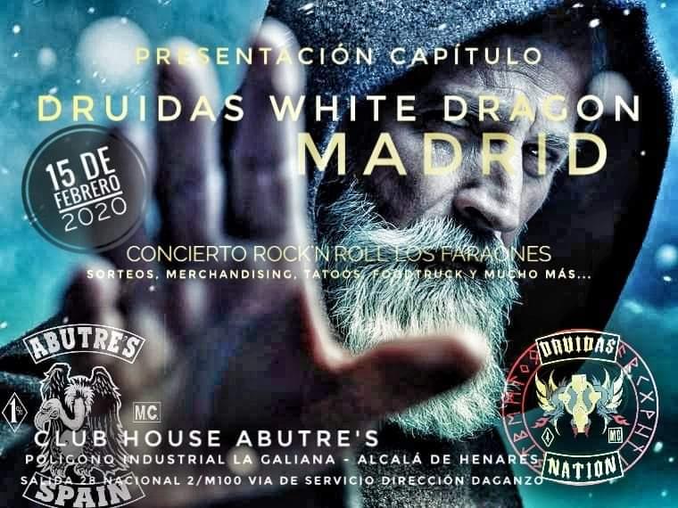 Fiesta Presentación Capítulo Druidas MC White Dragon Madrid