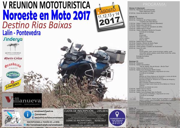 """Noroeste en Moto 2017 """"Destino Rias Baixas"""""""