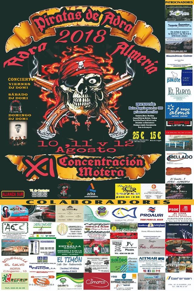 XI Concentración Motera - Piratas de Adra
