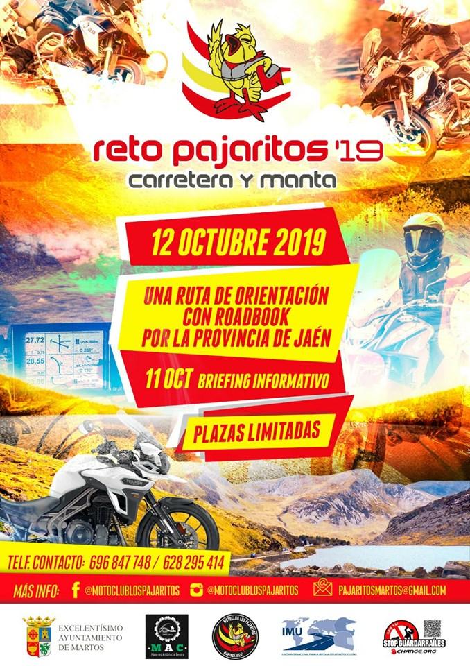 Reto Pajaritos Carretera y Manta 2019