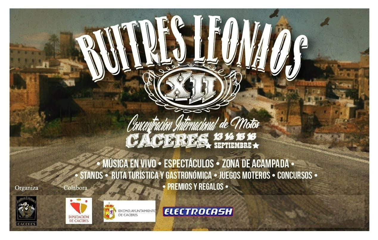 XII Concentracion Internacional de Motos Cáceres Buitres Leonados