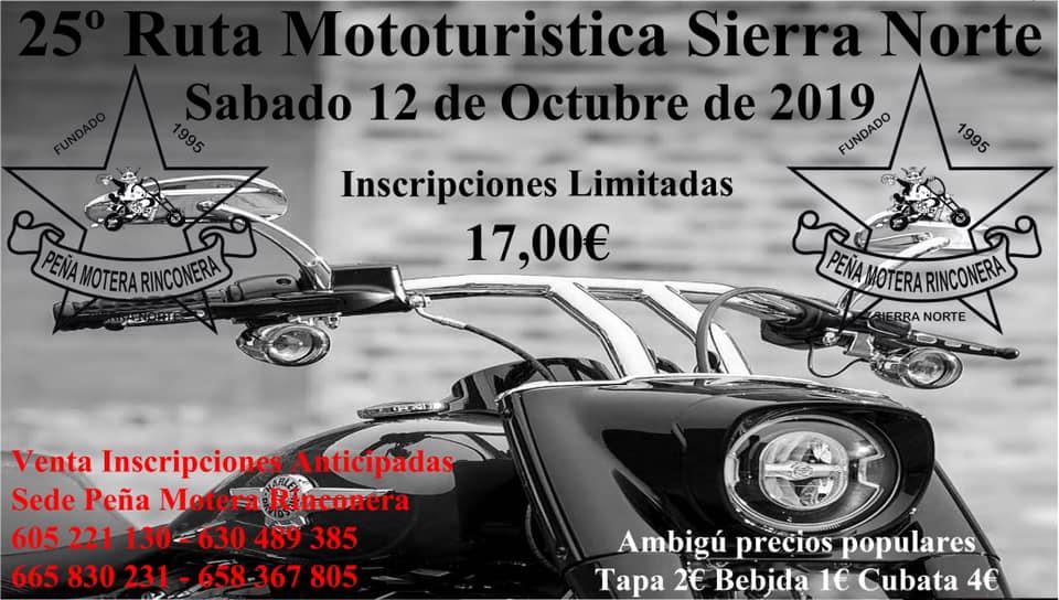 XXV Ruta Mototurística Sierra Norte 2019
