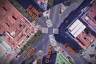 Madrid: primer paso peatonal en diagonal