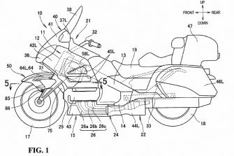 Patentes: Duolever de la Honda Gold Wing 2017