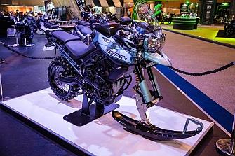 Triumph Tiger 800 Ice Bike, también en invierno