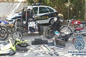 Detienen a siete ladrones de motos en Málaga
