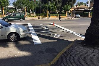 Jerez crea las primeras zonas adelantadas en los semáforos
