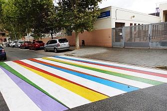 Vuelven los pasos de peatones de colores