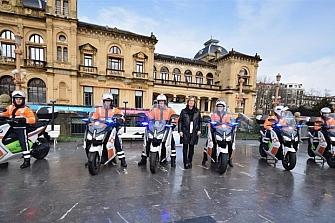 Seis nuevas motos para el Ayto. de San Sebastián