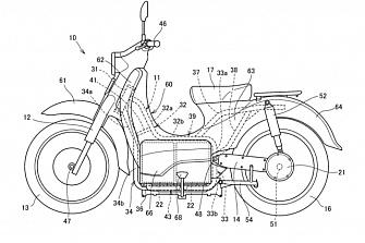 Patentes: Honda Cub EV