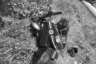 Un accidente de moto deja dos heridos en Madrid