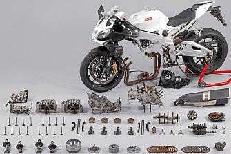 Aprilia prepara un motor deportivo bicilíndrico