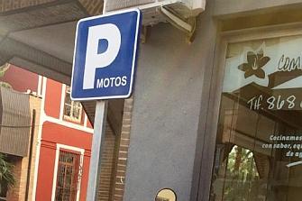 Nuevos aparcamientos para motos en Alhama de Murcia