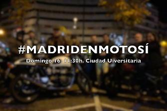 Voluntarios para la manifestación Madrid en Moto Sí