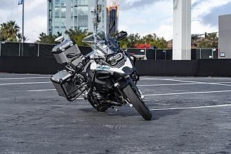 En el CES 2019 pudimos ver la BMW R 1200 GS con conducción autónoma