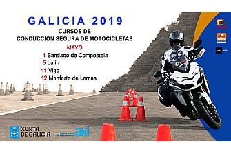 Cursos de Conducción Segura de Motocicletas Galicia 2019