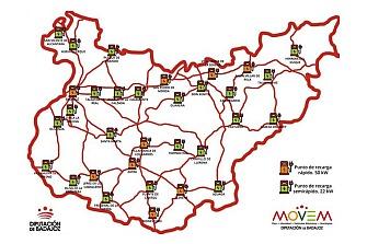 La provincia de Badajoz tendrá la primera red pública de Recarga