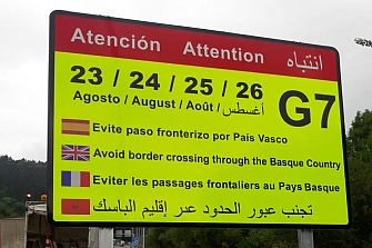 La DGT recomienda evitar el paso fronterizo del País Vasco