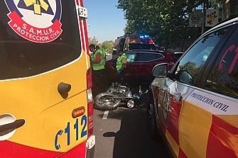 Muere un motorista de 51 años en Madrid