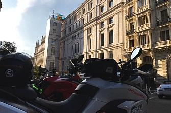 Madrid de nuevo con la moto