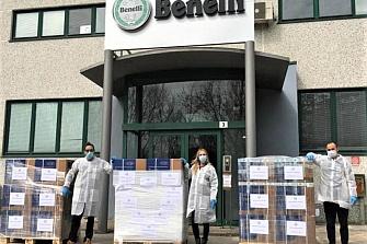 Benelli dona respiradores y trajes a Cruz Roja Italia