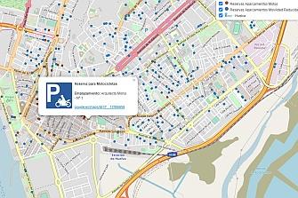 Huelva implementa un visor web de aparcamientos reservados para motoristas