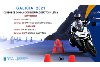 Cursos de Conducción Segura de Motocicletas Galicia 2021