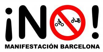 Manifestación de Motoristas en Barcelona el 29 de Octubre de 2010