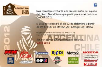 Dakar 2012. Presentacion equipo David Serra