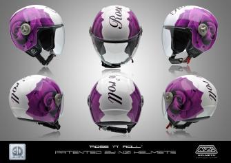 "Rose ""n"" roll, Nuevo gráfico 3D HELMETS®, BY NZI"