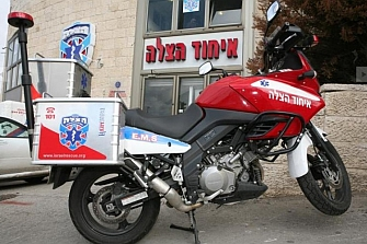 La moto, el mejor vehículo para los primeros auxilios